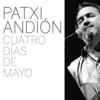 Portada del disco «Cuatro días de mayo» de Patxi Andión.