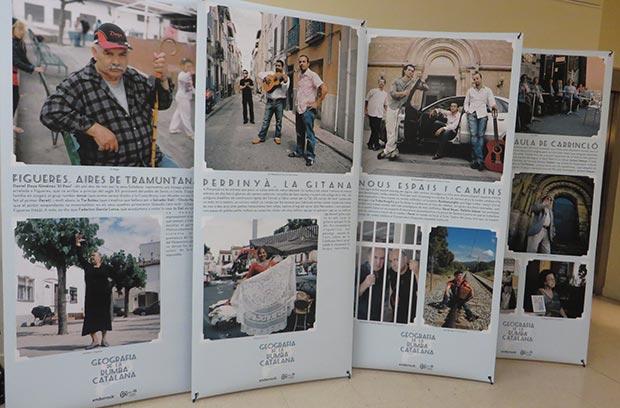 Detalle de exposición Geografía de la rumba catalana, con fotografías de Juan Miguel Morales y textos de Jordi Martí. © Isabel Llano