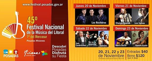 45º Festival Nacional de la Música del Litoral 7º del Mercosur 2014
