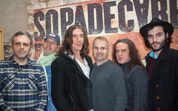 La banda catalana Sopa de Cabra durante la presentación de su último disco «El retorn» en 2011. © Xavier Pintanel