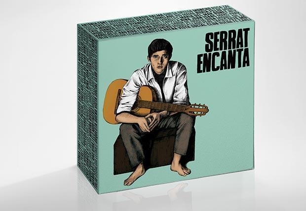 «Serrat encanta», una caja de 10 discos con 130 versiones del trovador catalán.