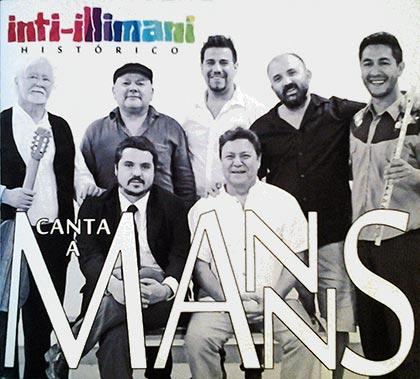 Portada del disco «Inti-Illimani Histórico canta a Manns» de Inti-Illimani Histórico.