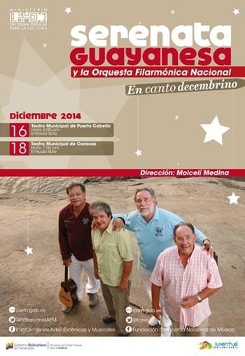 Serenata Guayanesa y la Filarmónica celebran la Navidad.