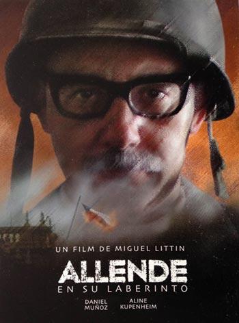 Cartel de la película «Allende en su laberinto» de Miguel Littin.