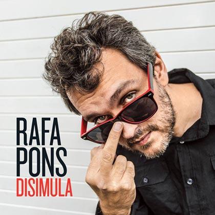 Portada del disco «Disimula» de Rafa Pons.