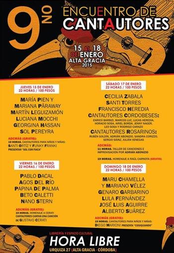 IX Encuentro de Cantautores de Alta Gracia 2015.