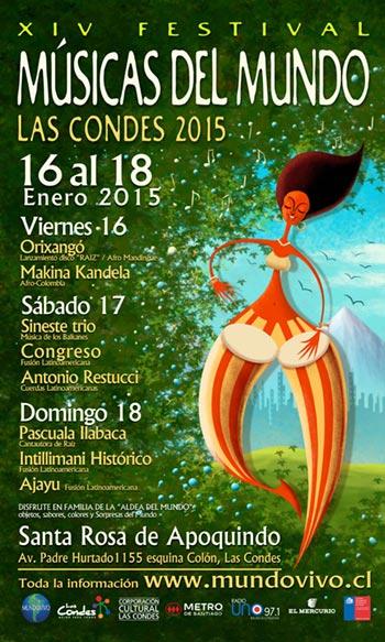 XIV Festival Músicas del Mundo de Las Condes 2015