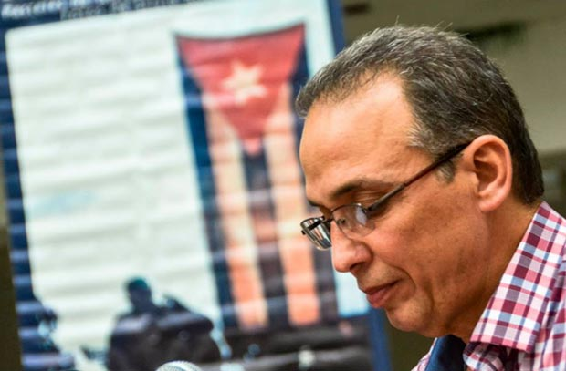 Antonio Guerrero en el Centro Pablo de la Torriente Brau. © Kaloian Santos Cabrera