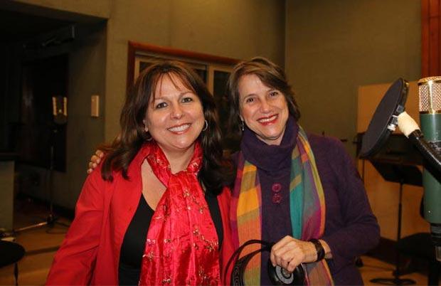 Liuba María Hevia y Cecilia Todd en los Estudios Abdala.
