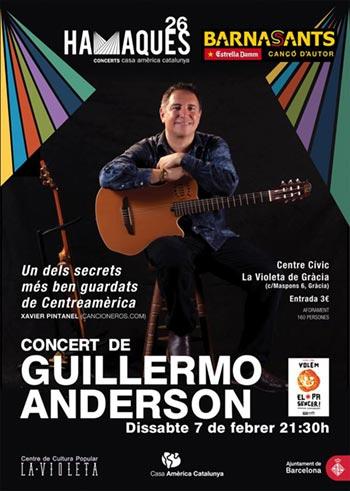 Guillermo Anderson actuará en el festival BarnaSants en programación conjunta con Hamaques.