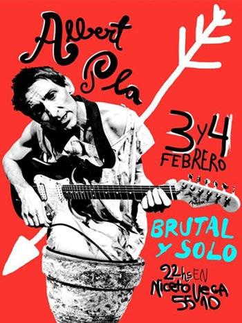 Albert Pla se presenta en Buenos Aires «brutal y solo».