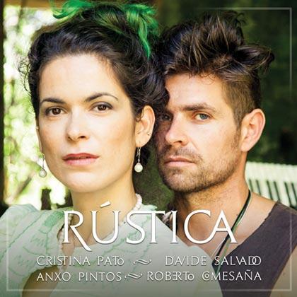 Portada del disco «Rústica» de Cristina Pato, Davide Salvado, Anxo Pintos y Roberto Comesaña.