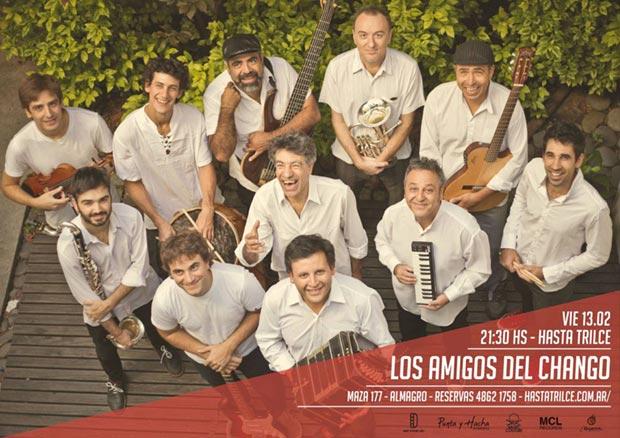 La Orquesta Los Amigos del Chango se presentará en Hasta Trilce (Maza 177, Almagro, Buenos Aires) este viernes.