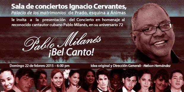 Bel Canto, concierto homenaje a Pablo Milanés.
