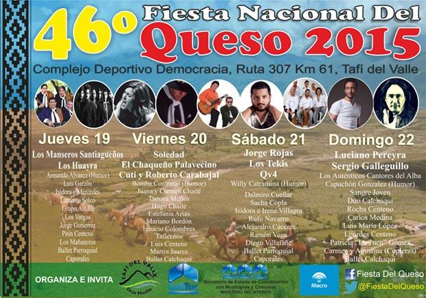 46ª Fiesta Nacional del Queso en Tafí del Valle 2015.