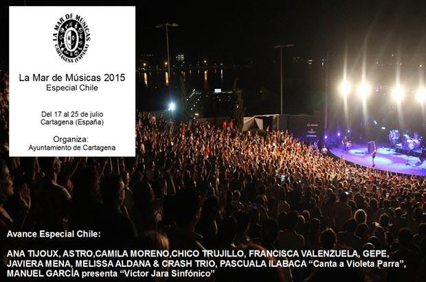 La Mar de Músicas invita a Chile en su 21ª edición
