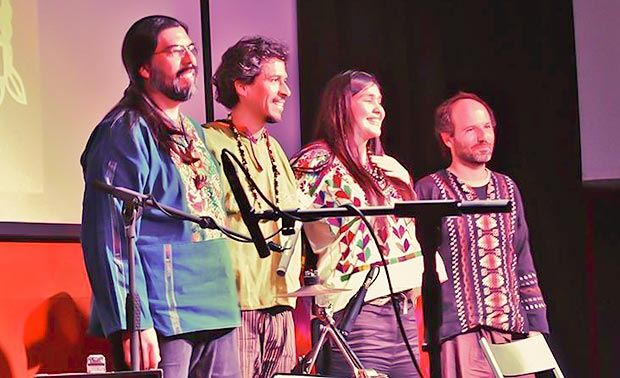 De izquierda a derecha: Octavio Beltrán, Gaddafi Núñez, Rosa Sánchez y Héctor Serrano. © Carles Gràcia Escarp