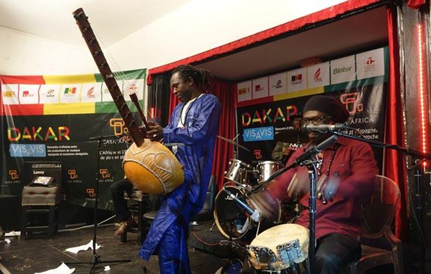 El músico senegalés de «kora» Noumoucounda Cissoko.