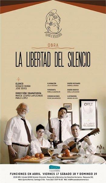 Horacio Durán y José Seves estrenarán la obra «La libertad del silencio».