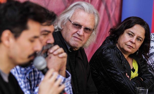 De izquierda a derecha: Ismael Oddó, Rubén Escudero, Eduardo Carrasco y Claudia Barattini, ministra de Cultura chilena. © Rodrigo Campusano/Consejo Nacional de La Cultura y las Artes