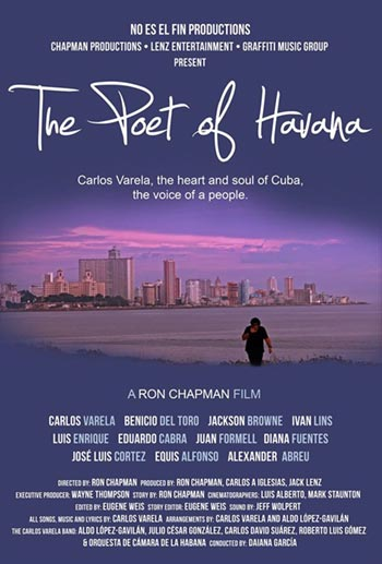 Cartel del documental «The Poet of Havana» sobre Carlos Varela.