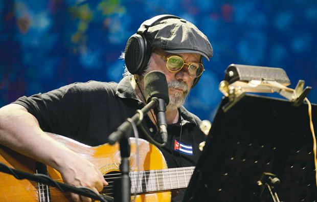 Silvio Rodríguez en Panamá. © AFP