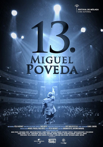 Cartel de documental «13.Miguel Poveda» de Paco Ortiz.