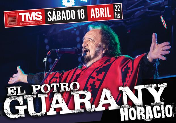 Horacio Guarany actuará en el teatro Mercedes Sosa.