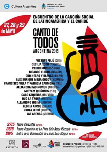 El festival «Canto de todos» llega a Argentina.