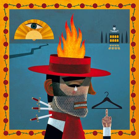 Ilustración sobre la canción «Romance de Curro El Palmo». © Carlos Cubeiro
