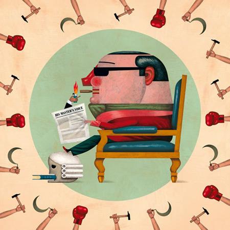 Ilustración sobre la canción «Disculpe el señor». © Carlos Cubeiro