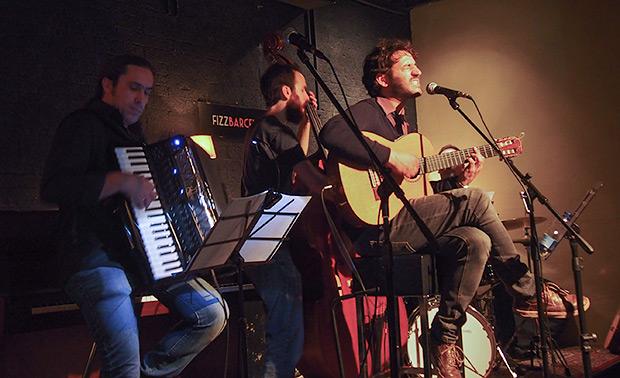 Hugo Arán y su banda.