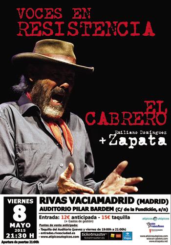 El Cabrero y su hijo, Zapata, avanzarán sus nuevos discos en Madrid.