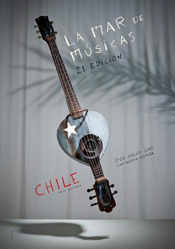 Cartel del 21 festival La Mar de Músicas de Cartagena 2015.