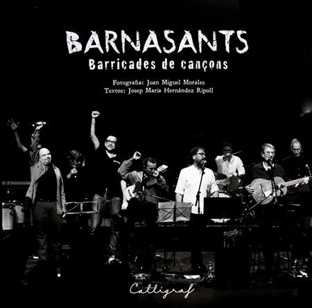 Portada del libro «BarnaSants. Barricades de cançons» de Josep Maria Hernández Ripoll y Juan Miguel Morales.