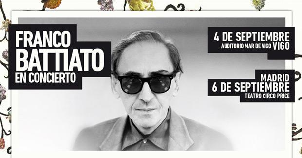 Franco Battiato aplaza sus conciertos en Madrid y Vigo hasta septiembre