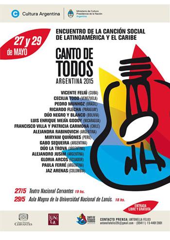 Llega a la Argentina el encuentro de la canción social «Canto de Todos».