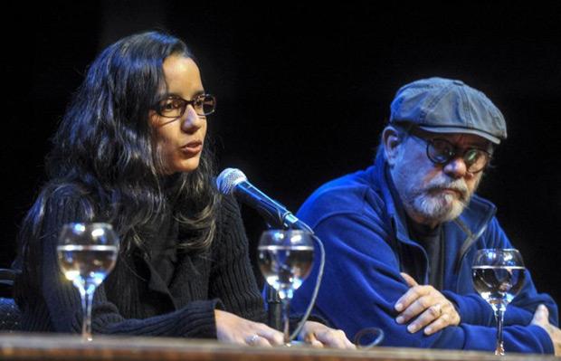 Mónica Rivero y Silvio Rodríguez. © Télam