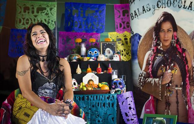 La cantante mexicana Lila Downs, hoy durante una entrevista con Efe. © EFE