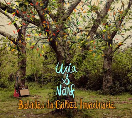 Portada del disco «Baladas da Galiza imaxinaria» de Uxía y Narf.