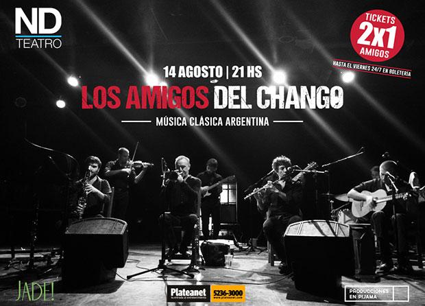 La Orquesta «Los Amigos del Chango» llegará al ND Teatro de Buenos Aires