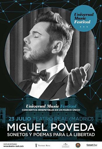 Miguel Poveda en el Teatro Real de Madrid.