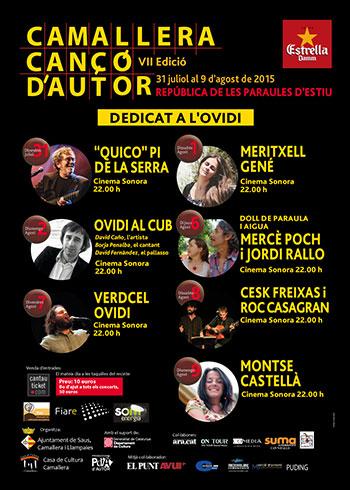 VII Festival de Canción de Autor de Camallera 2015