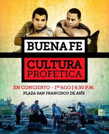 Cultura Profética y Buena Fe juntaron voces en La Habana.