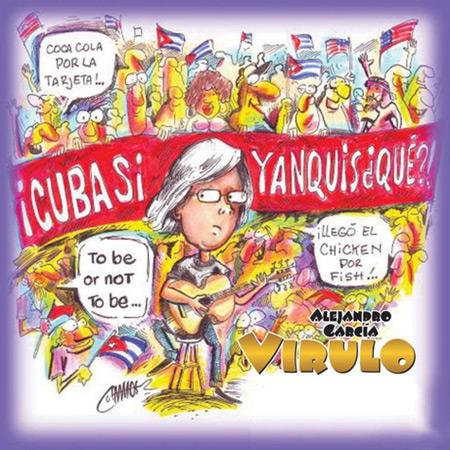 Portada del disco «Cuba sí, yanquis ¿qué?» de Virulo.