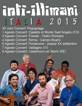 Inti-Illimani en Italia 2015.