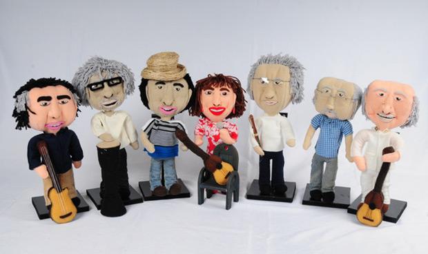«Mi juguete es canción», músicos venezolanos se convierten en muñecos de tela.