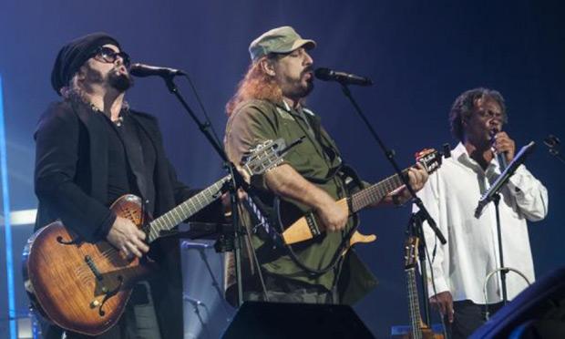 De izquierda a derecha: Carlos Varela, Frank Delgado y Gerardo Alfonso. © AIN