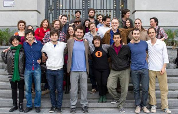 Algunos participantes de «La música interior» con Liliana Herrero en el centro. © Ministerio de Cultura de la Nación