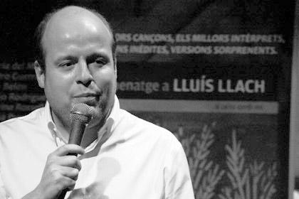 Salvador Sostres, en la presentación del CD en la Sala Luz de Gas. © Xavier Pintanel